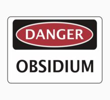DANGER OBSIDIUM FAKE ELEMENT FUNNY SAFETY SIGN SIGNAGE Kids Clothes