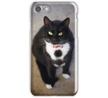Black and White House Cat iPhone Case/Skin