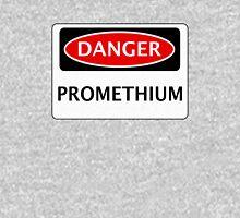 DANGER PROMETHIUM FAKE ELEMENT FUNNY SAFETY SIGN SIGNAGE Unisex T-Shirt