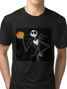 Jack Skellington and his pumpkin Tri-blend T-Shirt