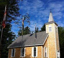 Scottish church at Wilsons Point Miramichi NB by Laura Lea Comeau
