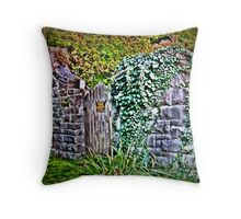 The Land Of Magic Is Gated And Posted Throw Pillow