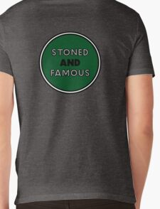 Stoned & Famous Back Logo Mens V-Neck T-Shirt