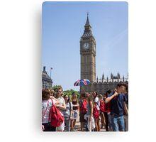 tourists view big ben Canvas Print