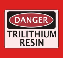 DANGER TRILITHIUM RESIN FAKE ELEMENT FUNNY SAFETY SIGN SIGNAGE Kids Clothes