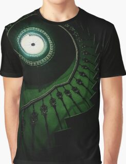 Spiral staircase in green tones Graphic T-Shirt