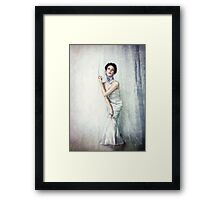 Girl Blue Framed Print