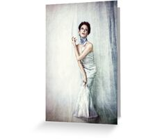 Girl Blue Greeting Card