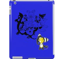 Music Demon Blue iPad Case (Black Outline) iPad Case/Skin