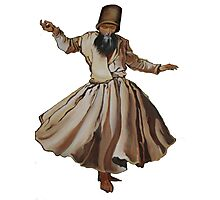 Whirling Dervish Conveys God's Spiritual Gift  Photographic Print