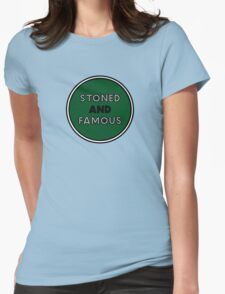Stoned & Famous Front Logo Womens Fitted T-Shirt