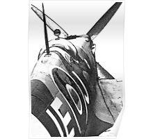 Spitfire Cockpit Poster