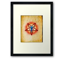 NATIVE PENTAGRAM - 018 Framed Print