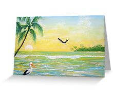 Pelicans view Greeting Card