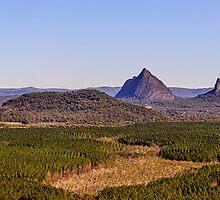 Glasshouse Mountains Panorama by Matthew Post
