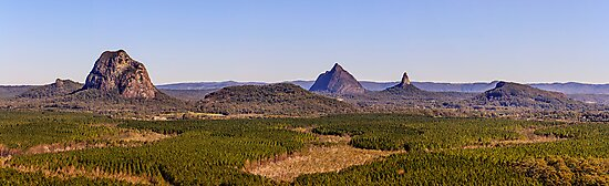 Glasshouse Mountains Panorama by Matthew Post