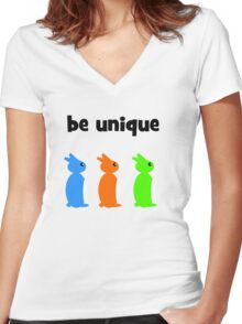 Be unique Women's Fitted V-Neck T-Shirt