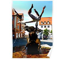 Erostischer Brunnen by Peter Mueller Poster