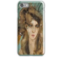 The Girl with Curious Hair iPhone Case/Skin
