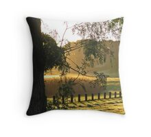 Barwon River in the morning Throw Pillow
