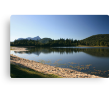 Reflecting on Lake Clarrie Hall.. Canvas Print