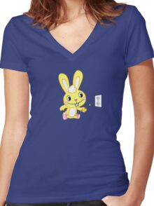 Happy Tree Friends - T-Shirt - Cuddles. Women's Fitted V-Neck T-Shirt