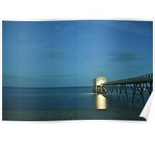 Selsey Lifeboat Pier at Nightfall Poster