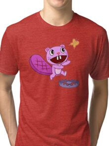 Happy Tree Friends - T-Shirt - Toothy Butterfly. Tri-blend T-Shirt