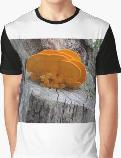 Orange Mushrooms Graphic T-Shirt