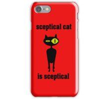 sceptical cat iPhone Case/Skin