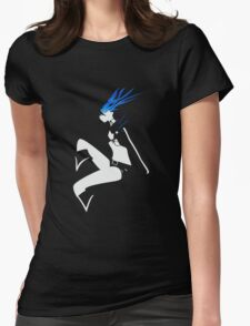 Black Rock Shooter negative space Womens Fitted T-Shirt