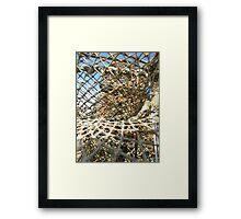 Cley Beach Crabpots Vortex  Framed Print