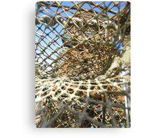 Cley Beach Crabpots Vortex  Canvas Print