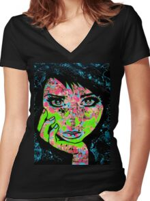 Inkblot Women's Fitted V-Neck T-Shirt