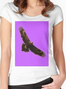 EAGLE IN FLIGHT Women's Fitted Scoop T-Shirt