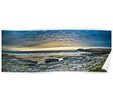 Sunset Over a Cornish Beach Poster