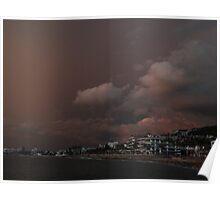 the dark side of a sunset - el lado oscuro de una puesta del sol Poster