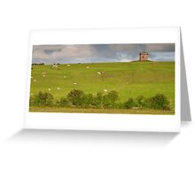 rural ireland scenic nature cows countryside landscape Greeting Card