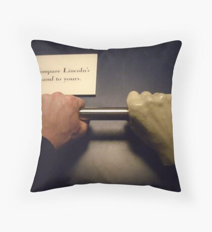 A Hand In Leadership Throw Pillow