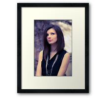 Thougthful girl Framed Print