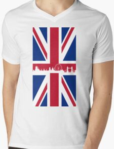British Flag Mens V-Neck T-Shirt