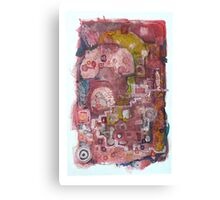 Old telephone call. Canvas Print