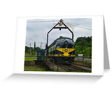 Erie Railroad Turntable Greeting Card
