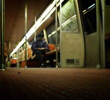 Lonely Metro Ride by Bine
