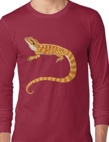 bearded dragon watercolour  Long Sleeve T-Shirt