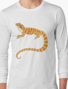 bearded dragon watercolour  Long Sleeve T-Shirt
