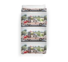 Ghost Rider Ecto 1 Duvet Cover