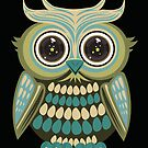 Star Eye Owl - Green 3 by Adamzworld
