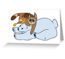 Cowl Eamesly and Chloe the Bear Greeting Card