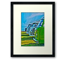 VW Campers Framed Print
